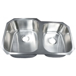 Futura FA108 Invicta 60/40 Double Bowl Undermount Stainless Steel Kitchen Sink