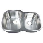 Futura FA108 Invicta 60/40 Double Bowl Undermount Stainless Steel Kitchen Sink