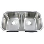 Futura FA-208 Electra 50/50 Double Bowl Undermount Stainless Steel Kitchen Sink