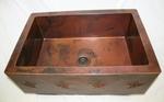 33 in. Copper Farmhouse Kitchen Sink 9