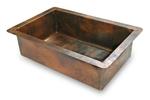 30 in. Copper Kitchen Single Basin Sink 9