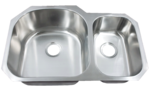 Futura FA708 Le Sabre 70/30 Double Bowl Undermount Stainless Steel Kitchen Sink