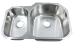 Futura FA708R Le Sabre Reverse 70/30 Double Bowl Undermount Stainless Steel Kitc