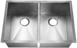 HomePlace HR-HA120B Bowie Undermount Stainless Steel Kitchen Sink  Radial Corner