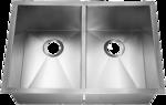 HomePlace HR-HA120B Bowie Undermount Stainless Steel Kitchen Sink  Radial Corner