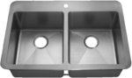 HomePlace HR- HA291B Henderson Drop-In Stainless Steel Kitchen Sink