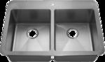 HomePlace HR- HA291B Henderson Drop-In Stainless Steel Kitchen Sink