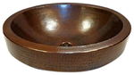 Semi Recessed 18 Quot X 15 Quot Oval Skirted Copper Bath Sink Drop