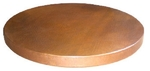Image Natural Brown Round Copper Table Top 24
