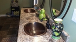 SimplyCopper 19 Oval Copper Bath Sink with Rolled Edge | Customer Photo Gallery