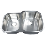 Leonet LE-205BR Brenner 60/40 Double Bowl Undermount Stainless Steel Kitchen Sin