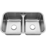 Leonet LE-678 Tribute 50/50 Double Bowl Undermount Stainless Steel Kitchen Sink