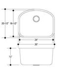 C-Tech-I Patras LI-800 Stainless Steel Single Bowl Laundry Sink   Laundry Sink
