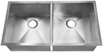 HomePlace HR-HBE3720B Liberty Undermount Stainless Steel Kitchen Sink Radial Co