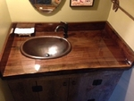 SimplyCopper 19 x 14 Oval Copper Rolled Edge Bathroom Sink Drop In or Vessel