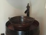 SimplyCopper 15 Aged Copper Vessel Bucket Sink | Customer Photo Gallery