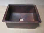 25 in. Copper Kitchen Sink 9