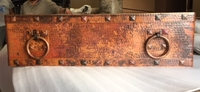 Image Copper Farmhouse RINGS Apron Front Sink Available in 30,
