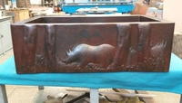Image Copper Farmhouse BEAR Apron Front Sink Available in 30,