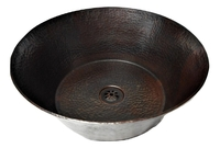 Image 14 Rustic Round Vessel Cazo Bathroom Sink 16-Gauge