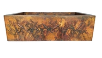 Image Copper Kitchen Farmhouse DRAGONFLYS Sink Available in 30,