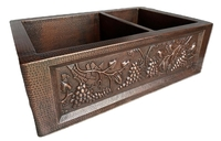 Image 60/40 GRAPE Copper Farmhouse Sink Available in: 30,