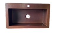 Image Copper Kitchen with 4in Back Flange Sink Available in: 30,