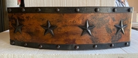 Image Copper Farmhouse Rounded  Apron STARS/RIVETS Sink Available in 30,