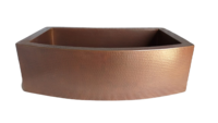 Image 50/50 Rounded Front Copper Farmhouse Sink Available in: 30,