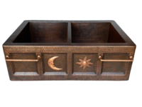 Image 50/50 SUN/MOON Copper Farmhouse Sink Available in: 30,