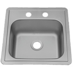 15 in Patriot PADB26 Georgian Drop-In Stainless Steel Single Bowl Bar Sink