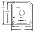 16 in Patriot PAUS18 Californian Undermount Stainless Steel Single Bowl Bar Sink | Stainless Steel Bar Sink