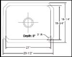 Patriot PAUS20 Washingtonian Undermount Stainless Steel Single Bowl Bar Sink   Stainless Steel Bar Sink