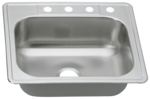 25 in Patriot PADS22 Ohioan Drop-In Stainless Steel Single Bowl Kitchen Sink