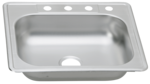 31 in Patriot PADS23 Minnesotan Drop-In Stainless Steel Single Bowl Kitchen Sink
