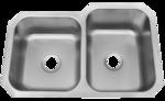 Patriot PAUD16R W.Virginian Undermount Stainless Steel 40/60 Bowl Kitchen Sink