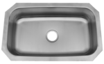 30 in Patriot Texan Undermount Stainless Steel Single Bowl Kitchen Sink | Kitchen Sinks