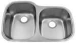 Image Patriot PAUD16 Virginian Undermount Stainless Steel 60/40 Bowl Kitchen Sink
