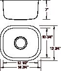Royalty R09 Peanut Undermount Stainless Steel Bar Sink | Stainless Steel Bar Sink