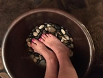 20 in Hand Hammered Copper Pedicure Foot Spa