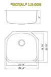 Leonet Royal LE-008 Single Bowl Stainless Steel Kitchen Sink | Leonet & Futura Stainless Steel Kitchen Sink