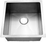 HomePlace HR-HBB1920B Rusk Undermount Stainless Steel Bar Sink - Radial Corners