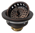 3 1/2 in. Wing Nut Kitchen or Bar Strainer Drain
