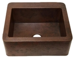 25 in. Copper Farmhouse Kitchen Sink 9