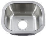 Image Peanut Under mount Stainless Steel Bar Sink 14 3/4