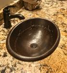 Copper Drop-In Bathroom Sink