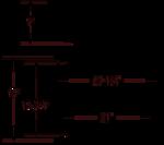 Tritan TU-US301 Elmont 16 Gauge Stainless Steel Single Bowl Undermount Kitchen S | Royalty & Tritan Kitchen Sink