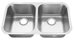 Tritan TU-001 Hercules 16 Gauge Double Bowl Undermount Kitchen Sink
