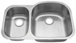 Tritan Ventura Reverse 30/70 TU-005 Double Bowl Stainless Steel Kitchen Sink