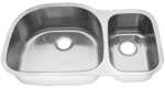 Tritan TU-405 Linden 16 Gauge Stainless Steel Double Bowl Undermount Kitchen Sin